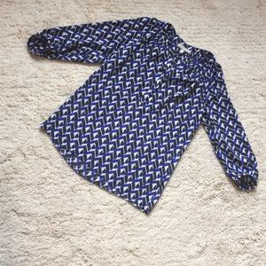 Banana Republic Blue/White/Black Blouse